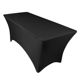 Stretch Tablecloth Black
